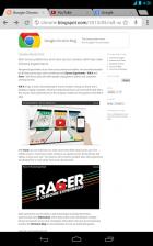 Google Chrome 27 : le mode plein écran arrive sur les tablettes !