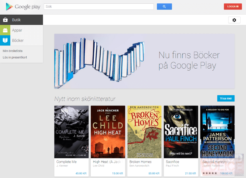 Google Play Livres s'invite dans 9 nouveaux pays