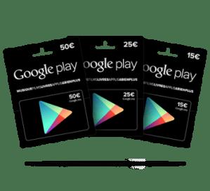 Des cartes cadeau Google Play… chez Carrefour !