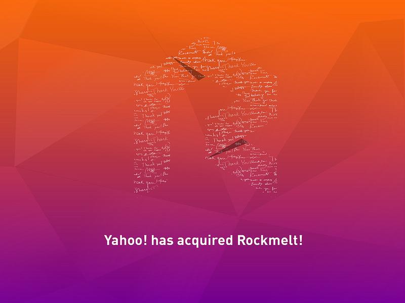 Yahoo! se paye Rockmelt
