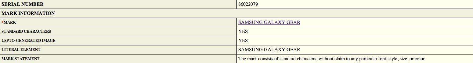 La Samsung Galaxy Gear se précise dans un dépôt de brevet