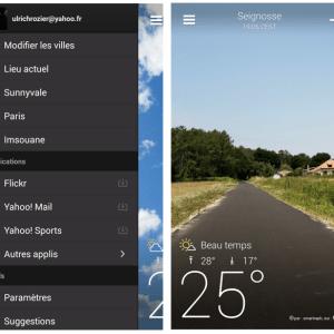 Yahoo vient de lancer une application météo sur Android, très complète !