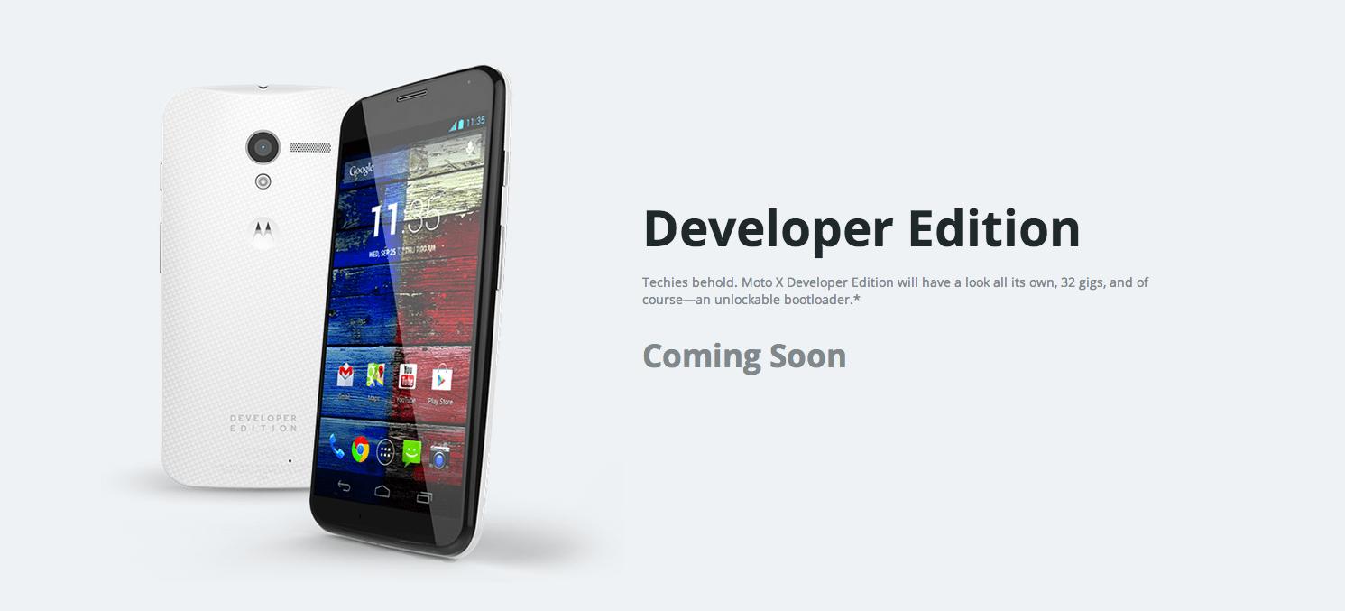 Le Moto X «Developer Edition» est en préparation
