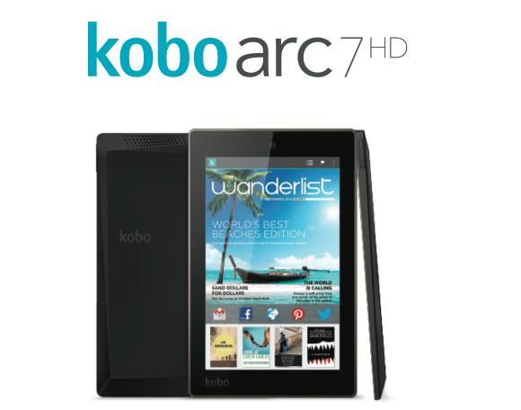 Kobo revient avec 3 nouvelles tablettes : les Arc 7, Arc 7HD et Arc 10HD