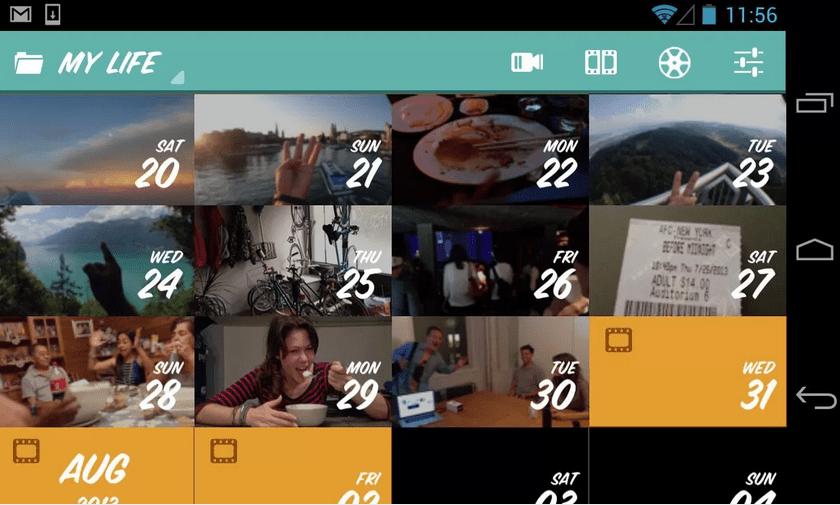 1 Second Everyday : créez simplement le film de votre vie