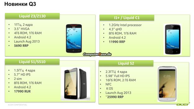 L'Acer Liquid S2 apparaît sur GFXBench, qui confirme un S800