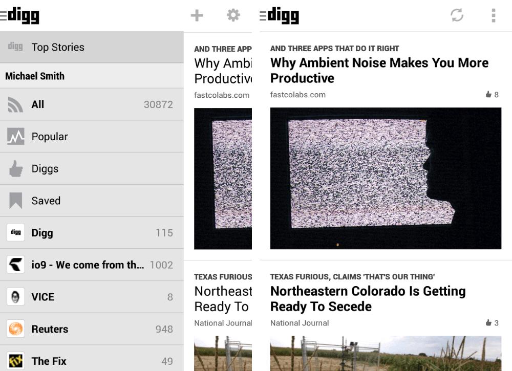 Digg Reader 1.4 se met à jour et permet de trier les informations non lues