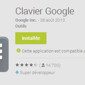 Clavier Google 1.1, la saisie des chiffres par pression prolongée arrive sur les tablettes