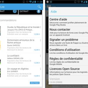 Une mise à jour mineure pour Google Play Livres