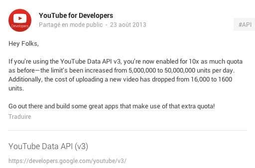 YouTube : les applications tierces peuvent maintenant intégrer plus de vidéos
