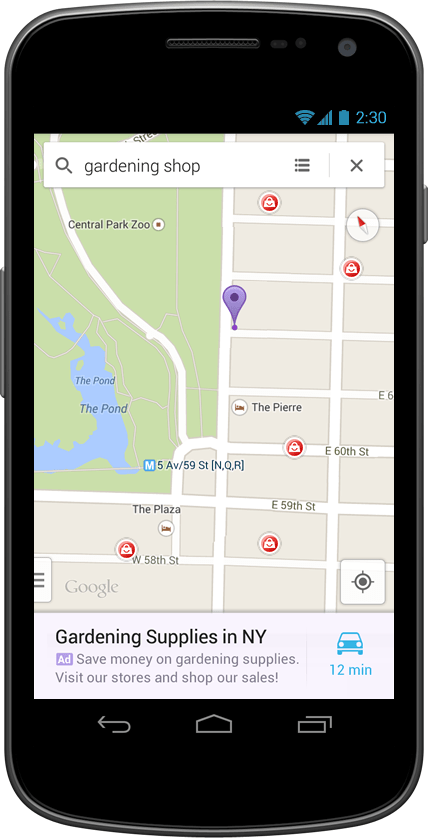 De la publicité ciblée dans Google Maps
