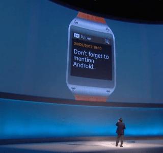 Galaxy Gear : Samsung présente sa montre connectée à l'IFA 2013