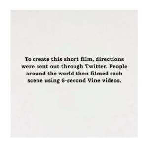 Un clip entièrement créé depuis des vidéos Vine