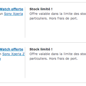 Une Sony SmartWatch 2 offerte pour l'achat d'un Xperia Z1 ou Xperia Z Ultra