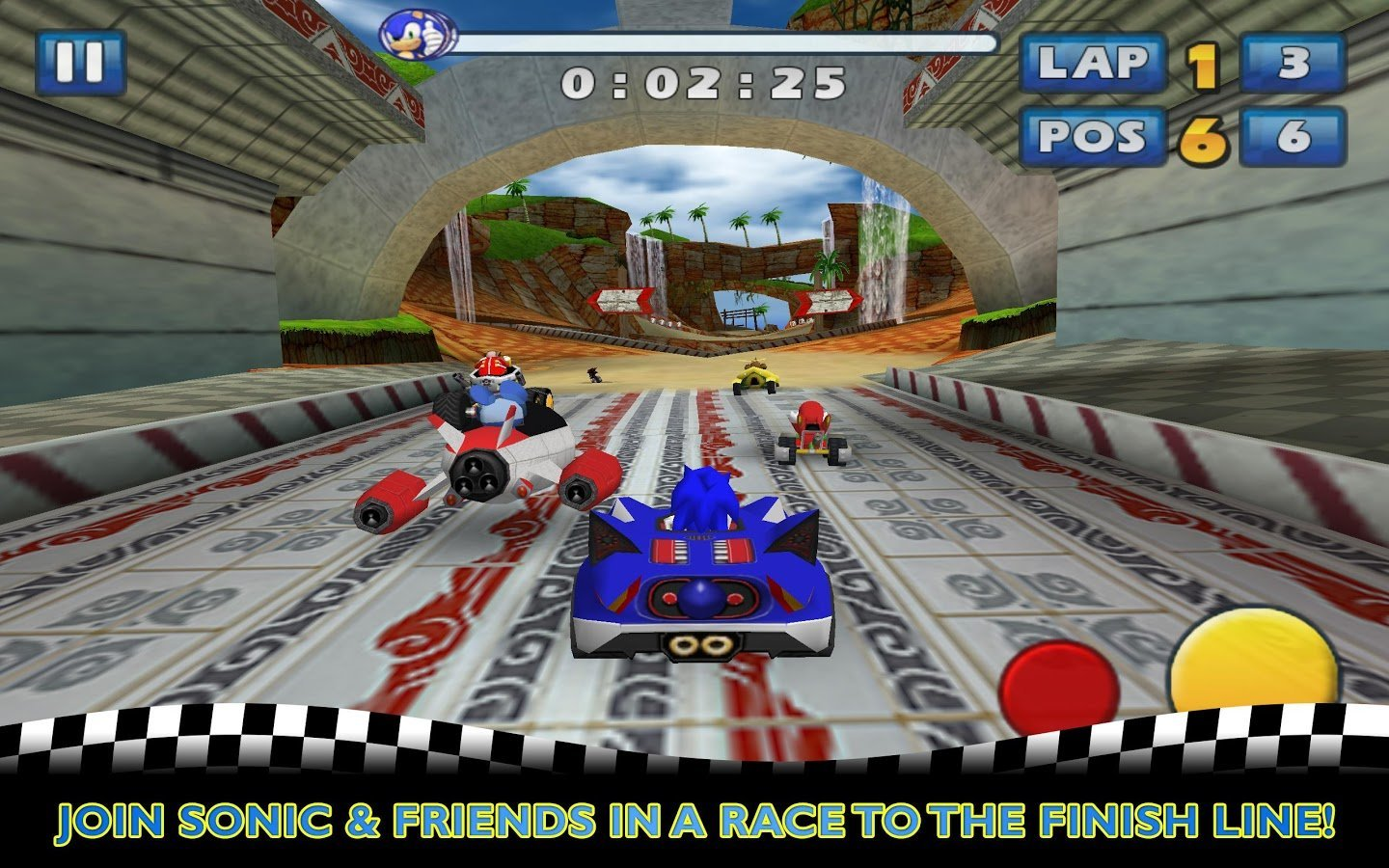 Le jeu Sonic & SEGA All-Stars Racing arrive sur le Google Play