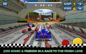 Le jeu Sonic & SEGA All-Stars Racing arrive sur le Google Play