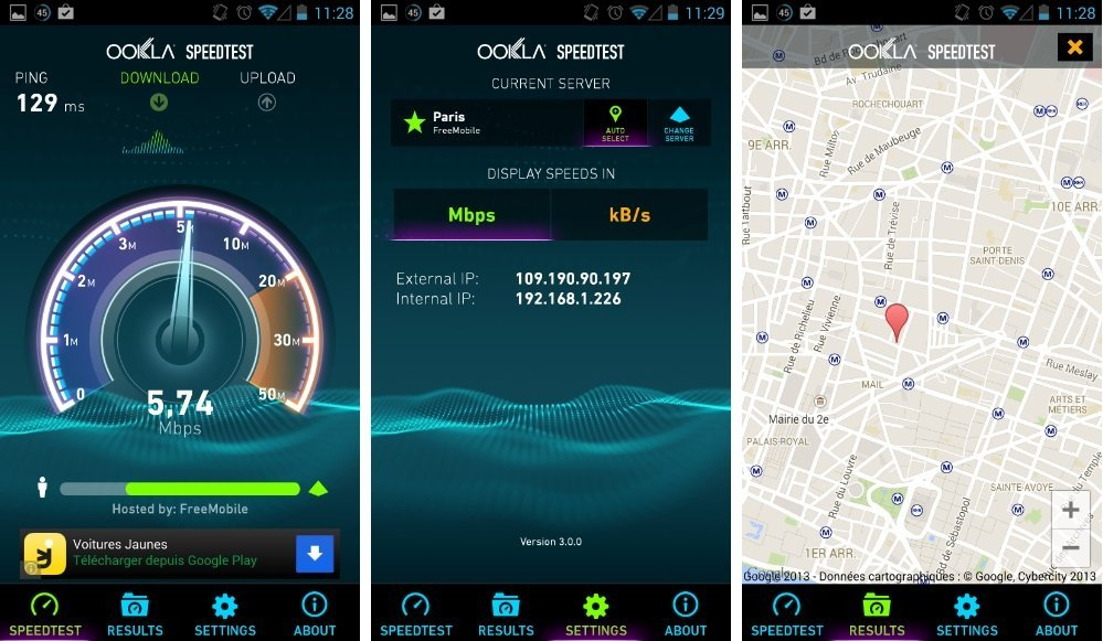 Speedtest 3.0 : l'interface de l'application remise au goût du jour