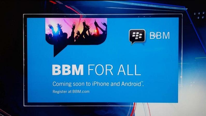 BlackBerry cesse le déploiement de BBM, à cause d'Android