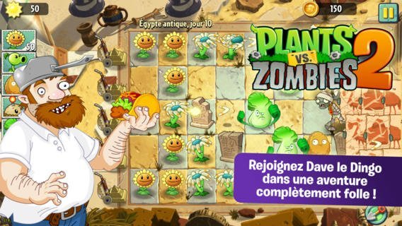 Pourquoi Plants vs Zombies 2 est-il absent du Google Play ?