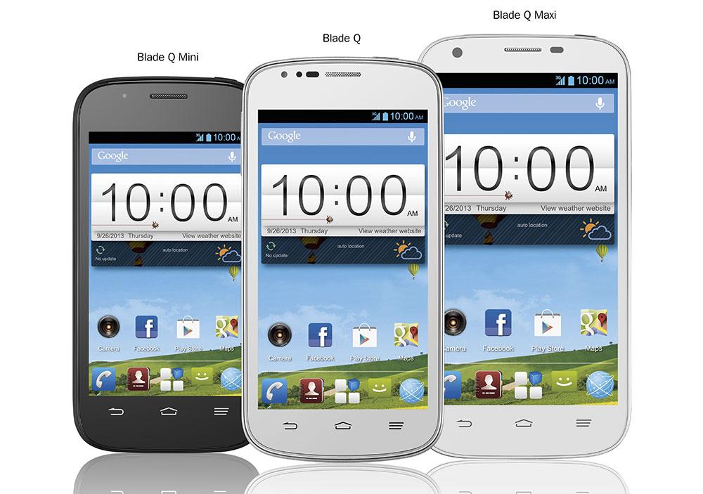 ZTE revient avec trois smartphones : les Blade Q, Blade Q Mini et Blade Q Maxi
