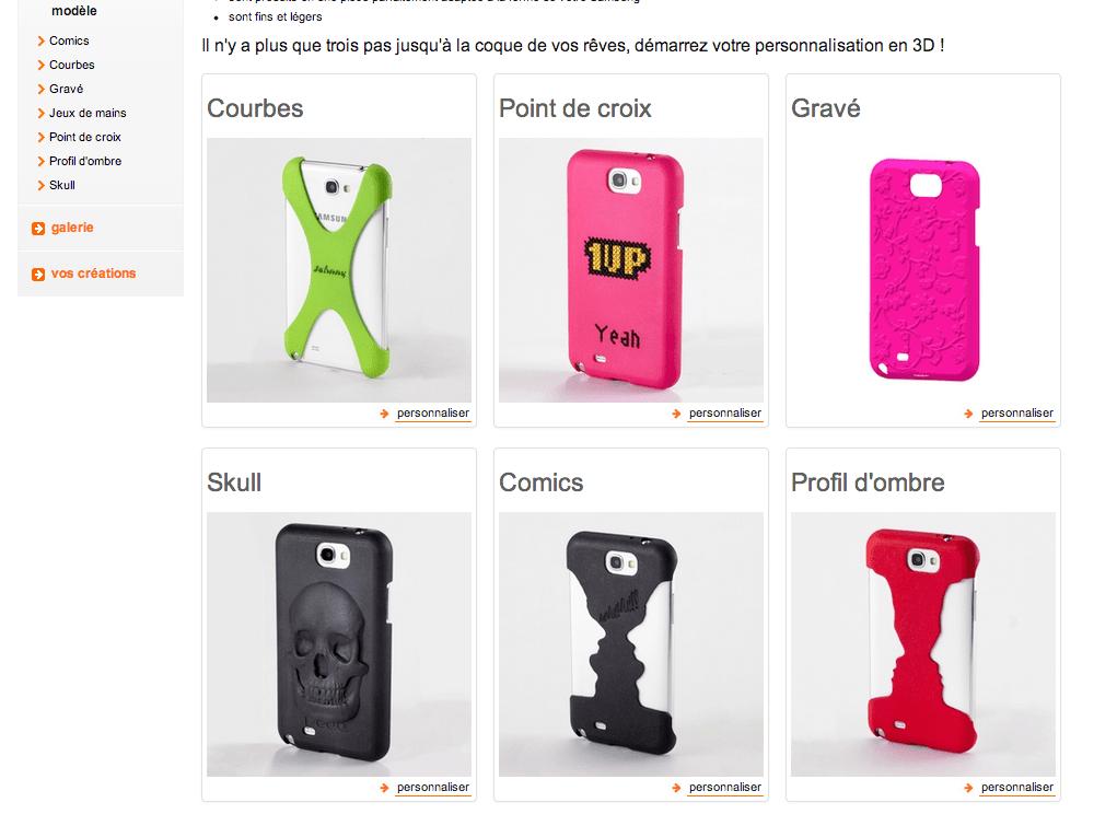 Orange propose d'imprimer vos coques de smartphone en 3D