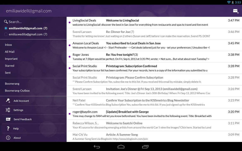 Boomerang: Email App for Gmail sur le Play Store vous permet de planifier vos messages