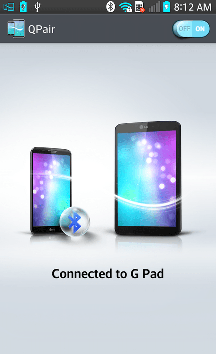 LG QPair : une application pour lier votre smartphone à votre tablette