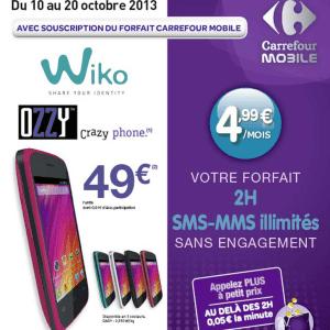 Carrefour Mobile : le Wiko Ozzy proposé pour 49 euros