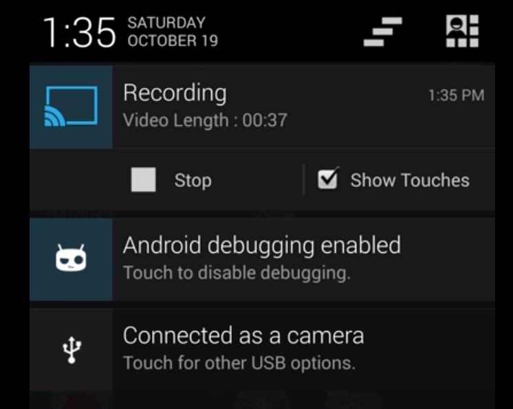 CyanogenMod : la fonctionnalité screencast intégrée