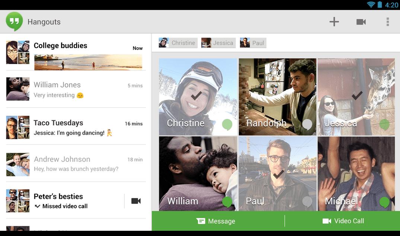 La mise à jour de Hangouts pour Android bientôt disponible ?