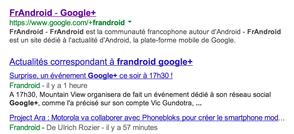 Google+ : les URL personnalisées sont disponibles