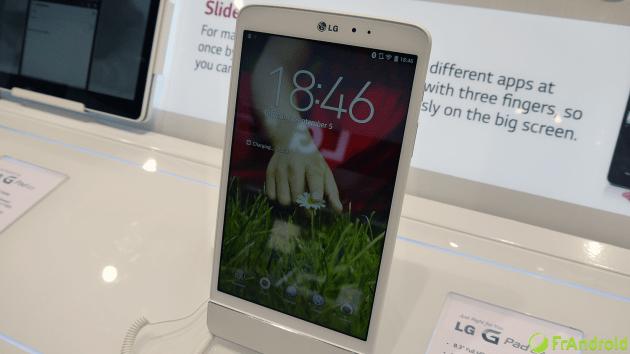 LG G Pad 8.3 : lancement en Corée la semaine prochaine et dans 30 pays d'ici la fin de l'année