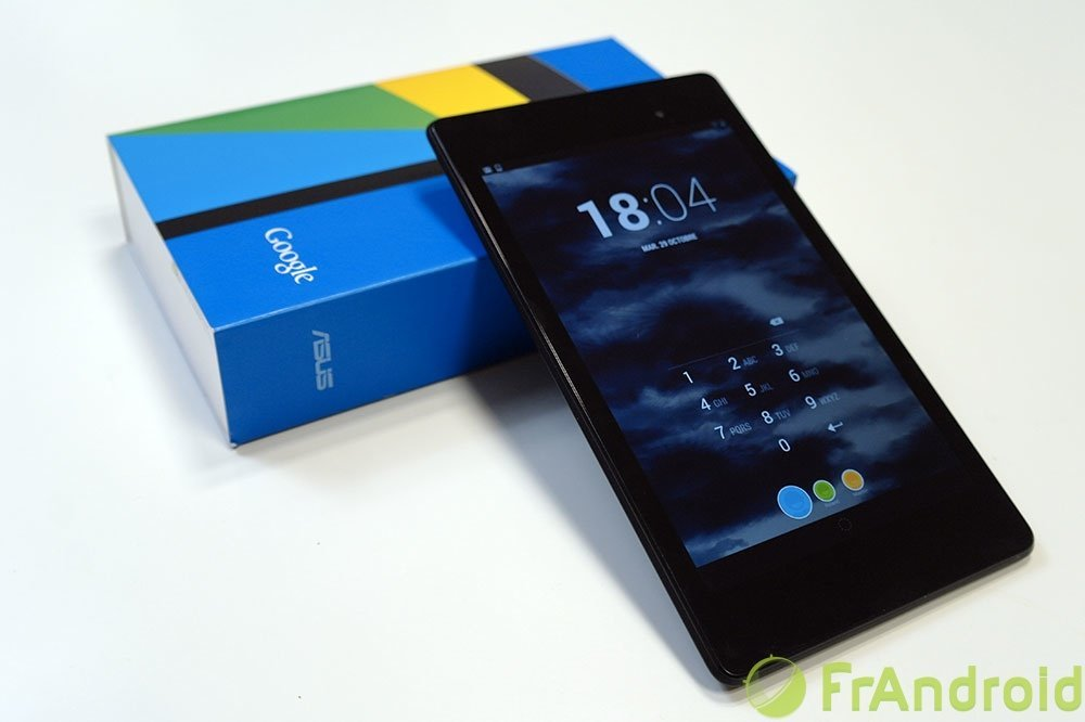 Test de la Google Nexus 7 (2013)