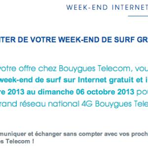Bouygues Telecom : les abonnés pourront découvrir la 4G gratuitement ce week-end