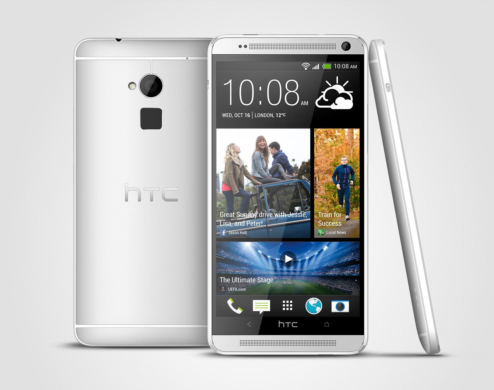 Le HTC One Max est (enfin) officiel avec lecteur d'empreintes et mémoire extensible
