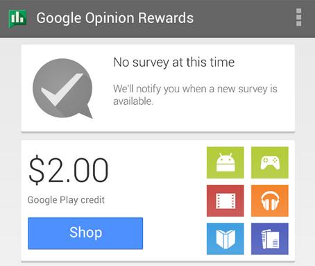 Google Opinion Rewards : le service qui paye les utilisateurs (en crédits Google Play) pour répondre à des enquêtes