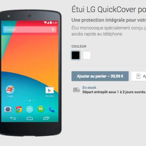 Nexus 5 : les accessoires disponibles sur le Play Store à partir de 30 euros