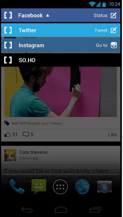 SO.HO Launcher pour les réseaux sociaux est disponible sur le Play Store