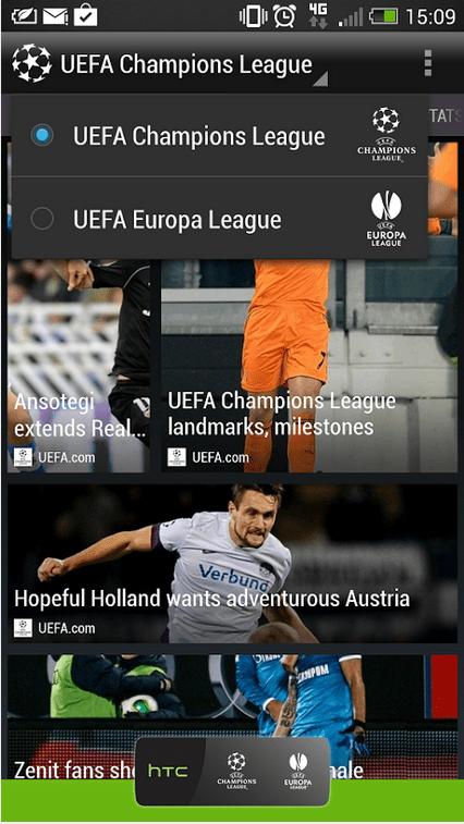 HTC FootballFeed, pour les amoureux du football européen