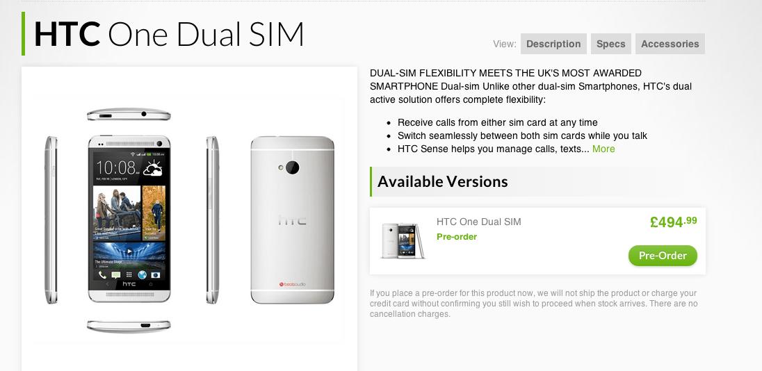 Le HTC One double-SIM avec port microSD débarque en Europe… mais pas en France