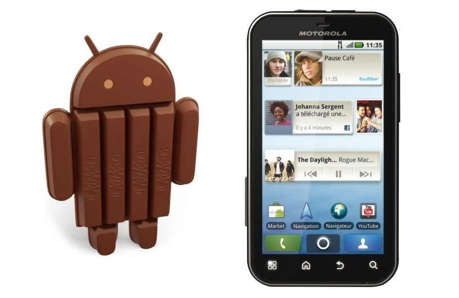 Motorola Defy et Defy+ : une ROM d'Android 4.4 KitKat arrive en alpha