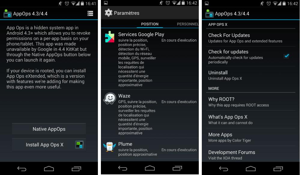 App Ops, le retour du gestionnaire de permissions sur le Play Store