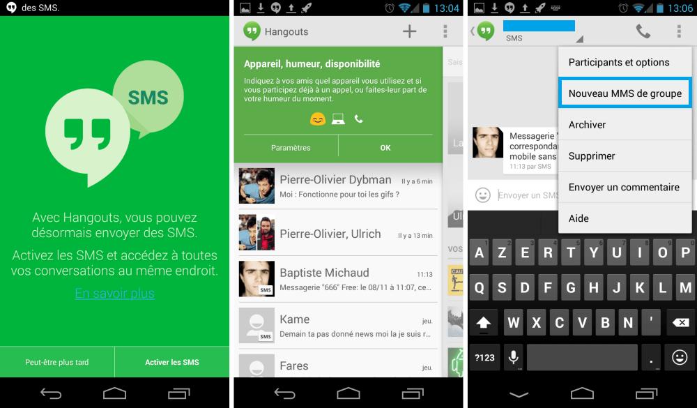 Hangouts 2.0.122 : l'intégration des SMS est au rendez-vous !