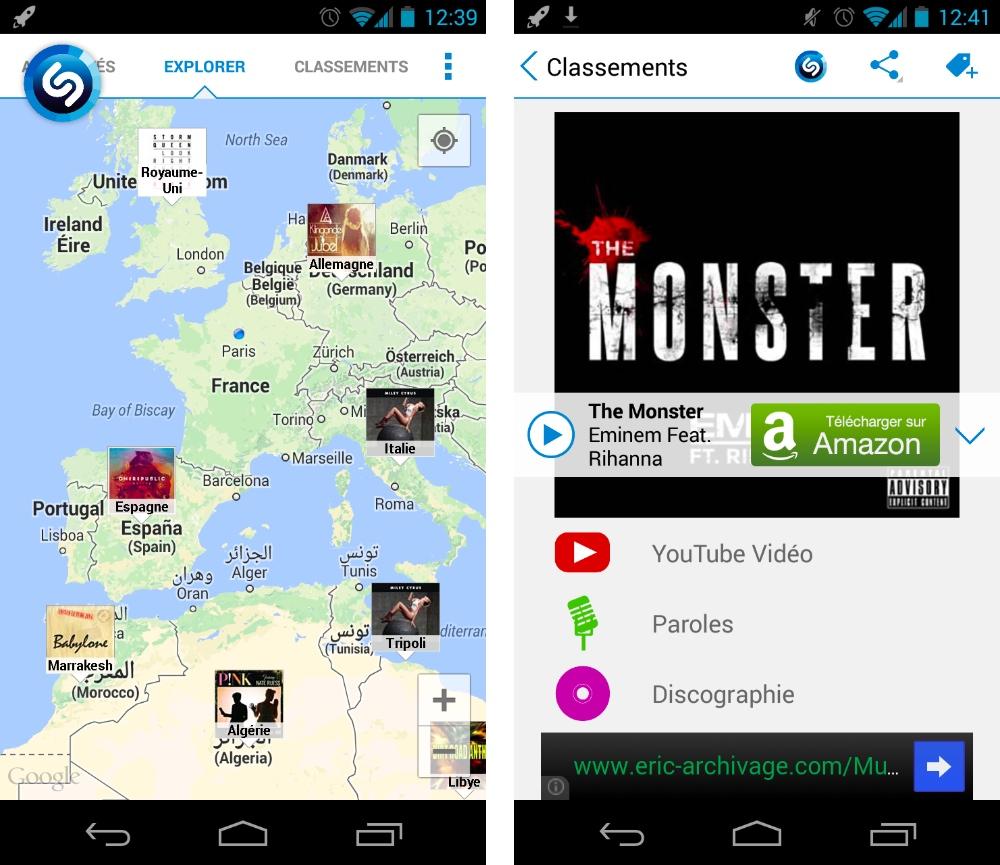 Shazam 4.2.0 : découvrez ce que les autres écoutent à travers le monde