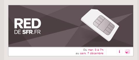 SFR RED sur Vente-Privée.com : notez la date du 3 décembre