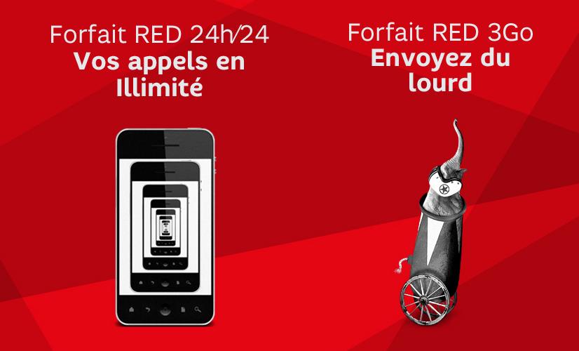 Vente Privée SFR RED : le forfait 3 Go passe à 11,99 euros, et le 24H/24 à 4,99 euros