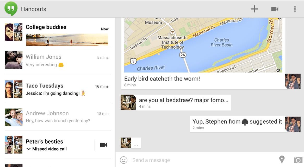 Hangouts se met à jour et corrige les bugs liés à l'intégration des SMS