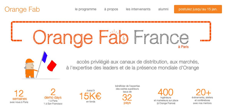 Orange Fab, un programme d'accélérateur de startups