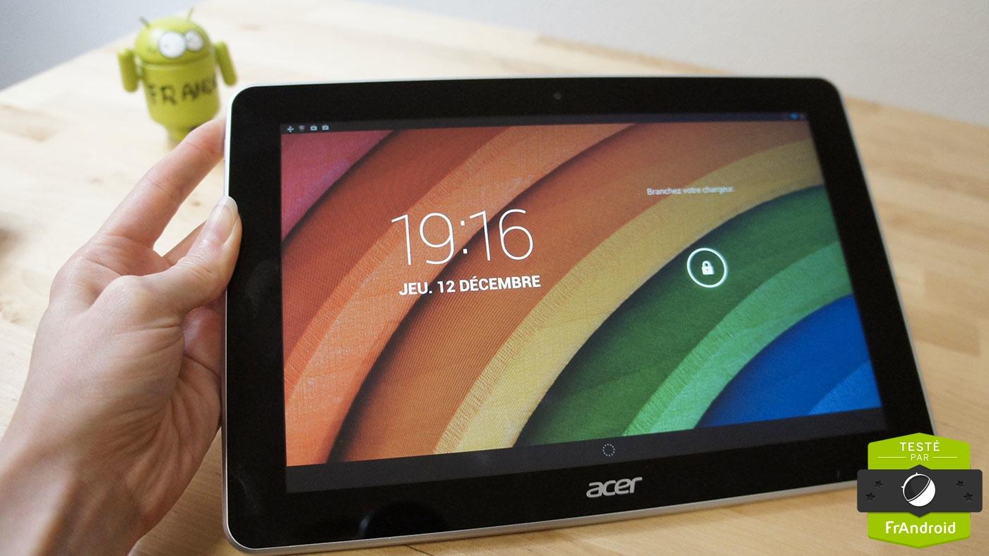 Test de la Iconia A3-A10 d'Acer, la tablette en retard ?