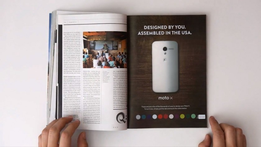 Motorola dévoile une publicité interactive pour son Moto X